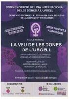 8 DE MARÇ- LA VEU DE LES DONES DE L'URGELL